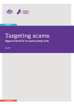 Targeting scams 2016 thumbnail